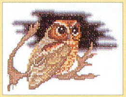 click here to view larger image of Owl - Aida (counted cross stitch kit)