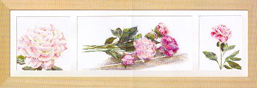 click here to view larger image of Peony - Linen (counted cross stitch kit)