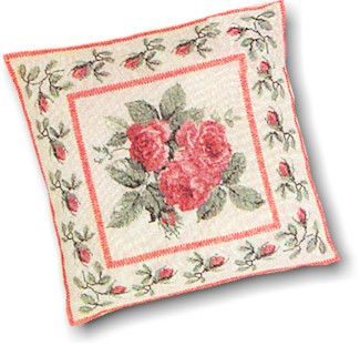 click here to view larger image of Red Rose Pillow - Aida (counted cross stitch kit)