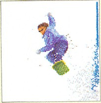 click here to view larger image of Snowboarding - Aida (counted cross stitch kit)