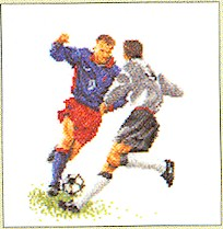 click here to view larger image of Soccer - Aida (counted cross stitch kit)