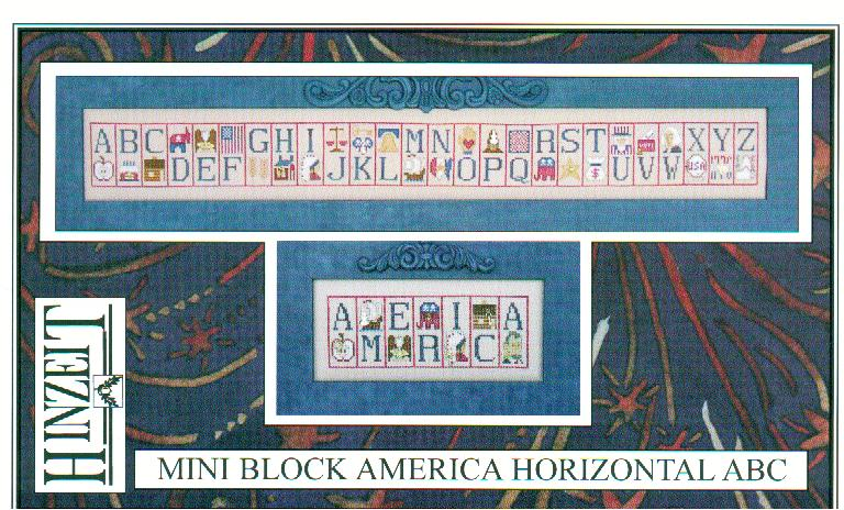 click here to view larger image of America ABC Horizontal (chart with charms/buttons)