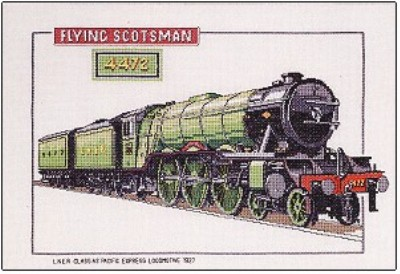 click here to view larger image of Flying Scotsman - Trains  (counted cross stitch kit)