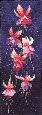 click here to view larger image of Fuchsia Panel  (counted cross stitch kit)