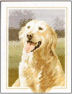click here to view larger image of Golden Retriever Dog  (counted cross stitch kit)