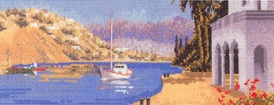 click here to view larger image of Mediterranean Harbour  - Panaramas (counted cross stitch kit)