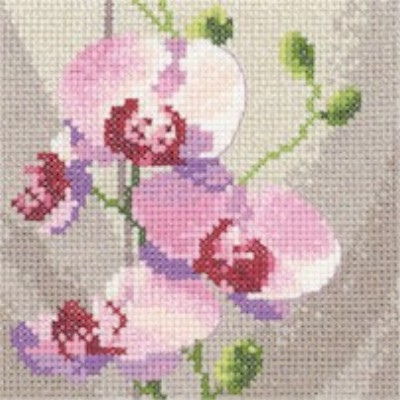 click here to view larger image of Mini Orchids  (counted cross stitch kit)