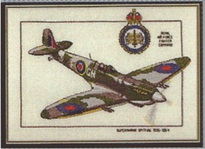 click here to view larger image of Supermarine Spitfire - Aeroplanes  (counted cross stitch kit)