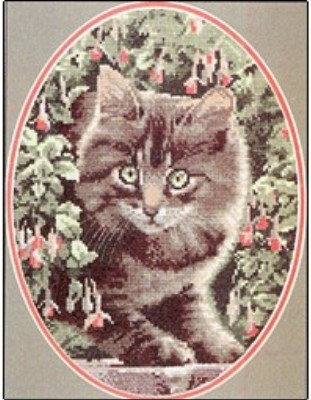 click here to view larger image of Tabby Kitten  -  Cat Collection (counted cross stitch kit)