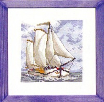 click here to view larger image of Sail Boat (counted cross stitch kit)