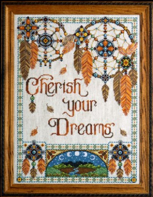 click here to view larger image of Cherish Your Dreams (counted cross stitch kit)