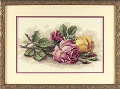 click here to view larger image of Rose Cutting (counted cross stitch kit)