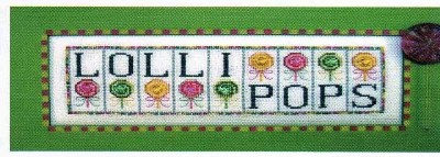 click here to view larger image of Lollipops - Jelly Mini Blocks (chart with charms/buttons)