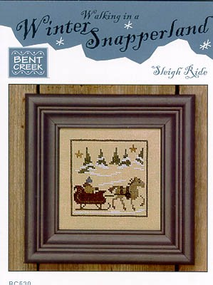 click here to view larger image of Sleigh Ride - Winter Snapperland (chart with charms/buttons)