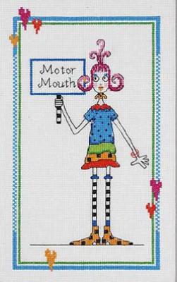click here to view larger image of Motor Mouth (chicklets) (counted cross stitch kit)
