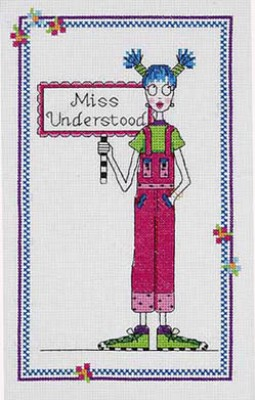 click here to view larger image of Miss Understood  (chicklets) (counted cross stitch kit)