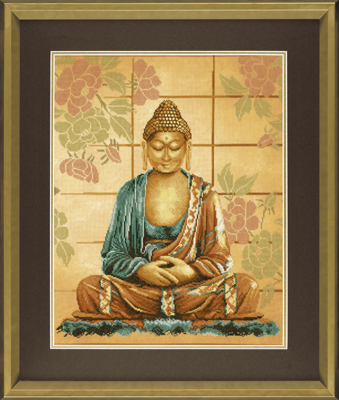 click here to view larger image of Buddha - 27ct (counted cross stitch kit)