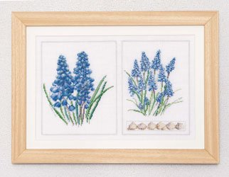 click here to view larger image of Blue Flower (counted cross stitch kit)
