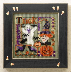 click here to view larger image of Trick or Treat Collage (2006) (counted cross stitch kit)