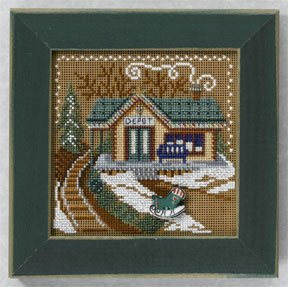 click here to view larger image of Train Depot (counted cross stitch kit)