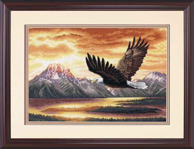 click here to view larger image of Silent Flight (counted cross stitch kit)