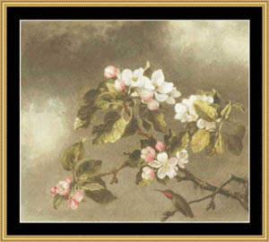 click here to view larger image of Hummingbird & Apple Blossom (chart)