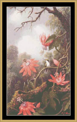 click here to view larger image of Hummingbird & Passion Flower - Heade (chart)