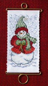 click here to view larger image of Warm Wishes Snowlady (counted cross stitch kit)