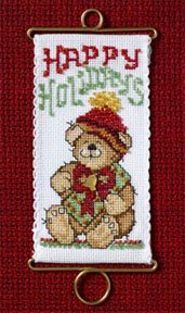 click here to view larger image of Happy Holidays Bear (counted cross stitch kit)