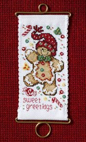 click here to view larger image of Sweet Greetings Gingerbread (counted cross stitch kit)