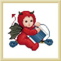 click here to view larger image of Little Stitch Devil with Bobbin (chart)