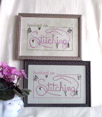 click here to view larger image of Hooked on Stitching (includes charms) (chart)