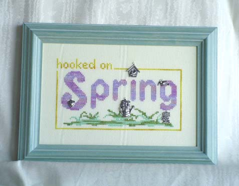 click here to view larger image of Hooked on Spring (Charms included) (chart with charms/buttons)