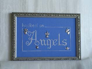 click here to view larger image of Hooked on Angels (charms included) (chart with charms/buttons)