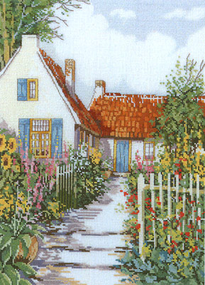click here to view larger image of Cottage Garden (counted cross stitch kit)