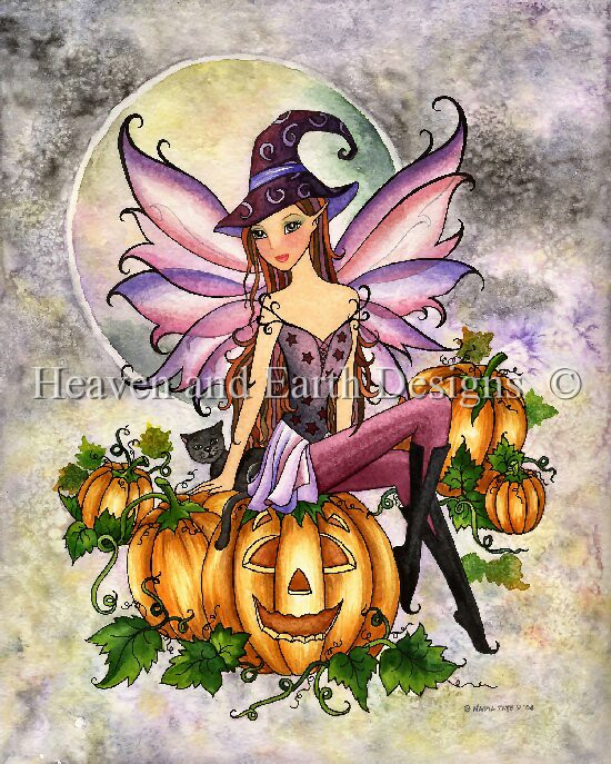 click here to view larger image of Pumpkin Patch Fairy Witch - Tate (chart)