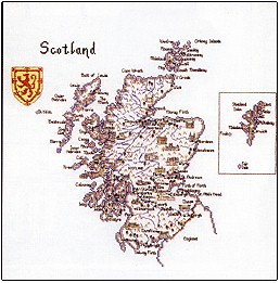click here to view larger image of Map of Scotland - Britain in Stitches (chart)