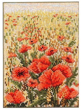 click here to view larger image of Field of Poppies (counted cross stitch kit)
