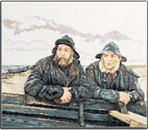 click here to view larger image of Fisherman (counted cross stitch kit)