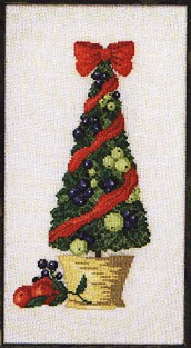 click here to view larger image of Potted Christmas Tree (counted cross stitch kit)