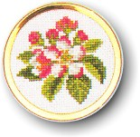 click here to view larger image of Apple Blossom Handbag Mirror (counted cross stitch kit)