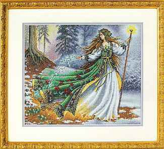 click here to view larger image of Woodland Enchantress (counted cross stitch kit)