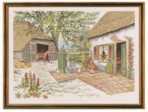 click here to view larger image of Farm & Horse (counted cross stitch kit)