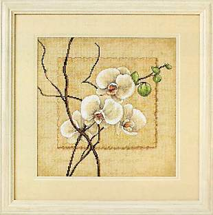 click here to view larger image of Oriental Orchids (counted cross stitch kit)