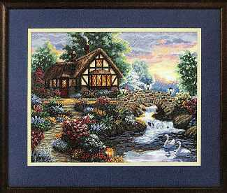 click here to view larger image of Twilight Bridge (counted cross stitch kit)