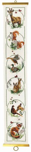 click here to view larger image of Animal Bellpull (counted cross stitch kit)