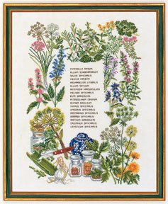 click here to view larger image of Herbs (counted cross stitch kit)
