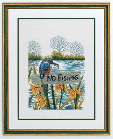 click here to view larger image of No Fishing (counted cross stitch kit)