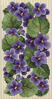 click here to view larger image of Eyeglass Case - Violets (chart)