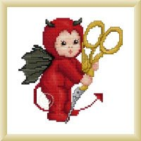 click here to view larger image of Little Stitch Devil with Scissors (chart)